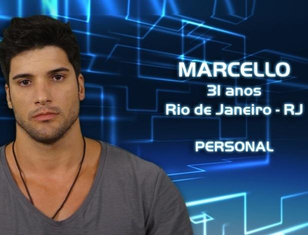 """Foto de divulgação de Marcello Salgado, participante da casa de vidro do """"BBB13"""" selecionado para o programa"""