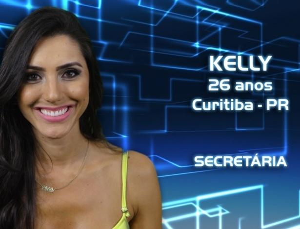 """Foto de divulgação de Kelly, participante da casa de vidro do """"BBB13"""""""