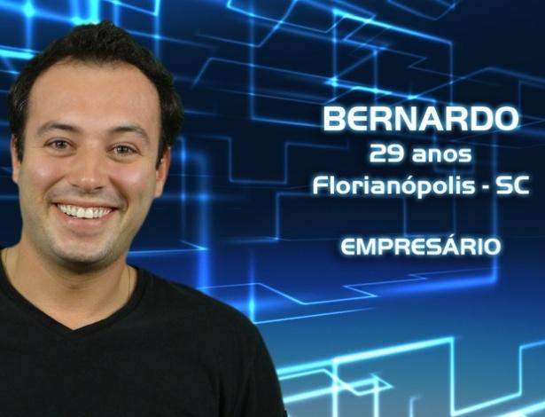 """Foto de divulgação de Bernardo Lima, participante da casa de vidro do """"BBB13"""""""