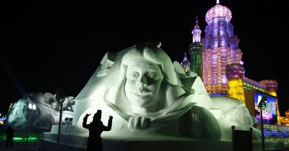 05.jan.2013 - Festival Internacional de Gelo e Neve de Harbin, na China, atrai turistas de todo o mundo