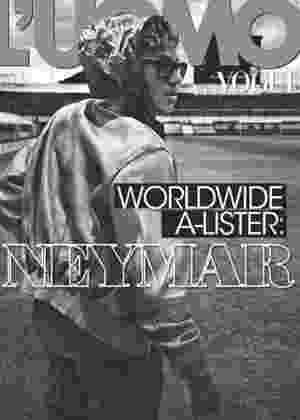 """Neymar na capa da """"L""""Uomo Vogue"""" na edição Janeiro 2013 - Divulgação"""