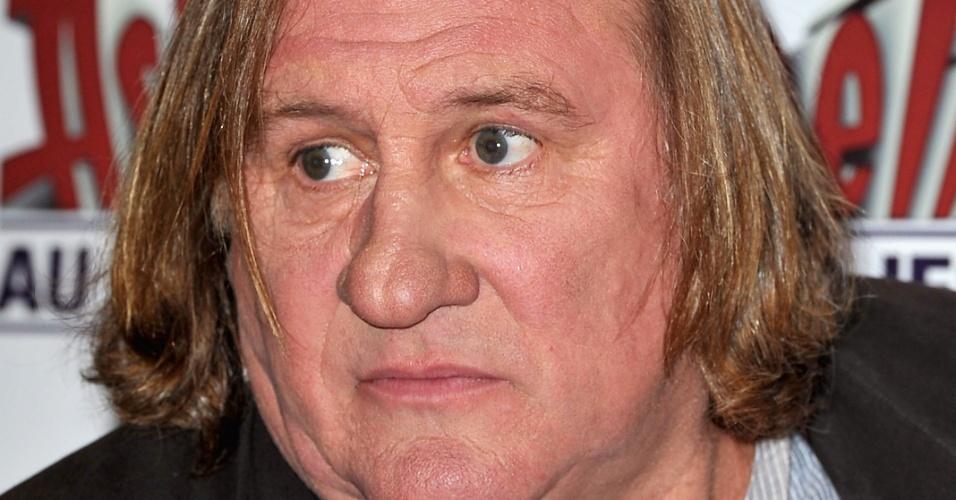 30.set.2012 O ator francês Gérard Depardieu na pré-estreia do filme