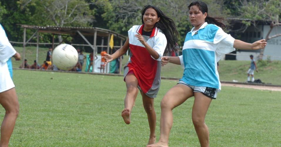 Meninas indígenas contam com categoria específica dentro da organização do Peladão Verde