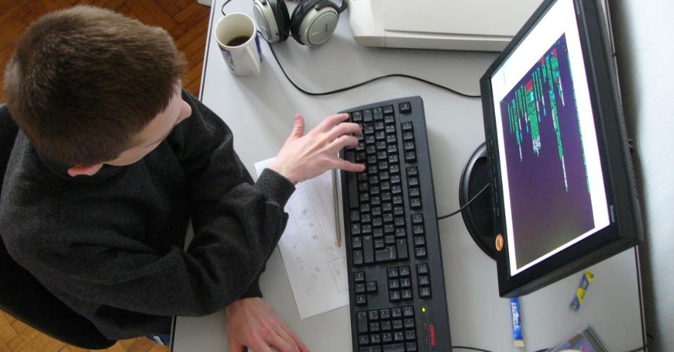 09.jan.2013 - imagem representativa de um programador de computadores