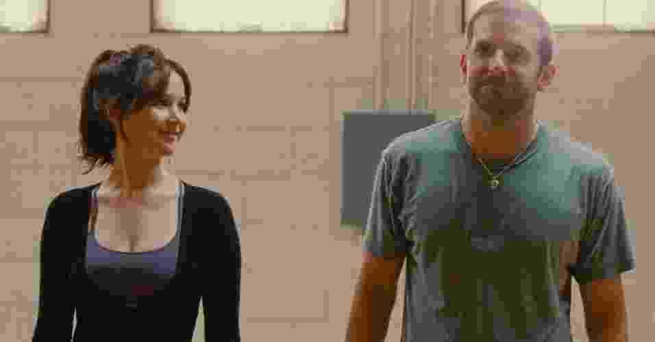 """10.jan.2013 - Cena do filme """"O Lado Bom da Vida"""", estrelado por Bradley Cooper e Jennifer Lawrence - Divulgação"""