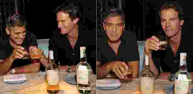 Entre um gole e outro, ator George Clooney se diverte durante lançamento de uma marca de tequila - Grosby Group - Grosby Group