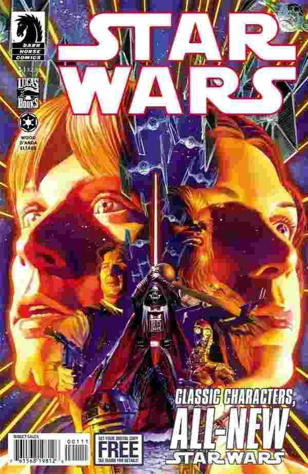 """Capa de """"Star Wars # 1"""", nova edição da Dark Comics - Reprodução/DarkHorseComics"""