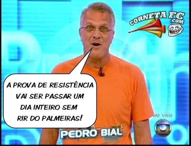 Corneta FC: Primeira prova de resistência do BBB exige que brothers não riam do Palmeiras