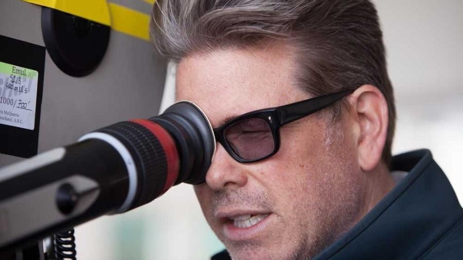 """11.jan.2013 - Diretor Christopher McQuarrie durante gravações do filme """"Jack Reacher - O Último Tiro"""" - Divulgação / Paramount"""