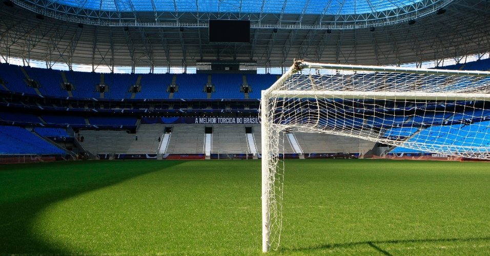 Gramado da Arena do Grêmio recebe nota 6,5 dos jogadores após treino (10/01/2013)