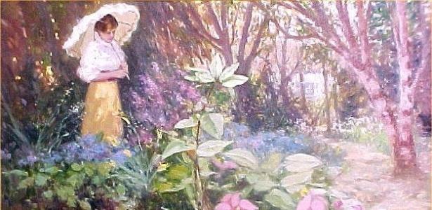"""Obra """"Elisabete no Quintal"""", criada pelo pintor Washington Maguetas em 2001 - Reprodução"""