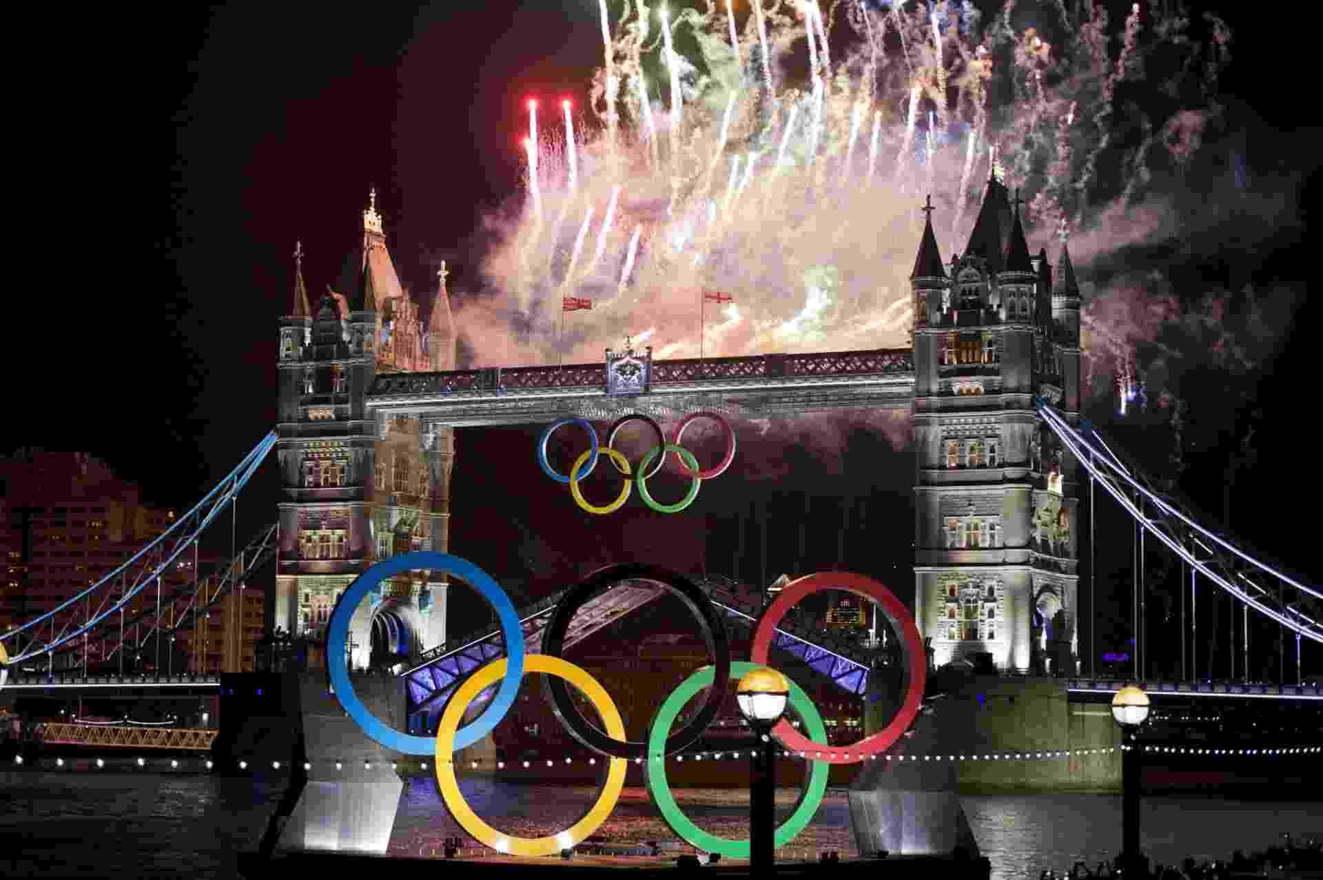 11.jan.2013 - Os Jogos Olímpicos de Londres, que ocorreram entre 27 de Julho e 12 de Agosto de 2012, produziram em duas semanas tantas emissões de gases de efeito estufa quanto cerca de 200 mil lares europeus somados em um ano, segundo dados do Comitê Organizador da capital britânica, o Locog - Johannes Eisele/AFP/27.jul.2012