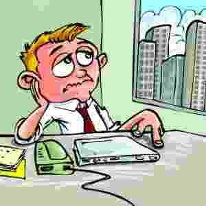 emprego, tédio, trabalho, escritório - Thinkstock