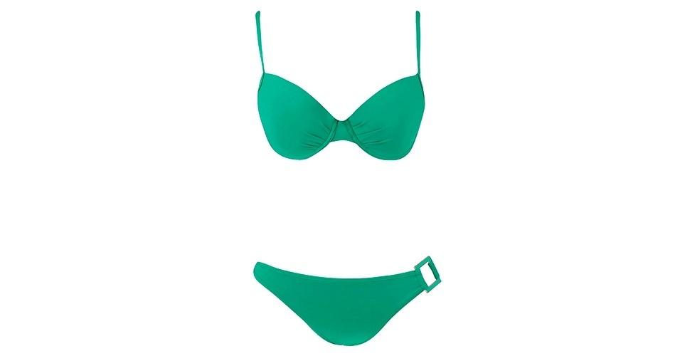 GORDINHAS: Biquíni verde com calcinha larga e top que sustenta bem os seios, o modelo é ideal para as gordinhas; R$ 69,90, na Renner (www.lojasrenner.com.br)