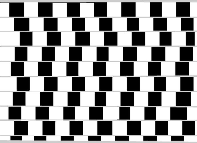 Ilusão de ótica: linhas paralelas