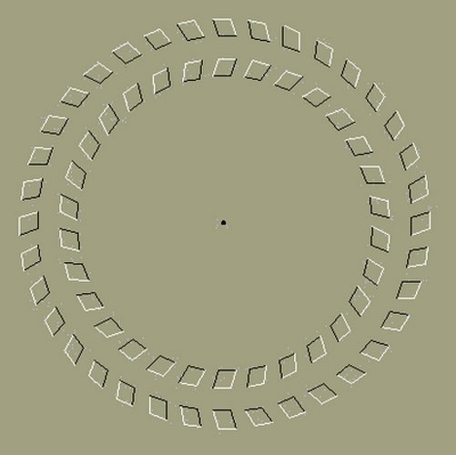 Ilusão de ótica: movimento