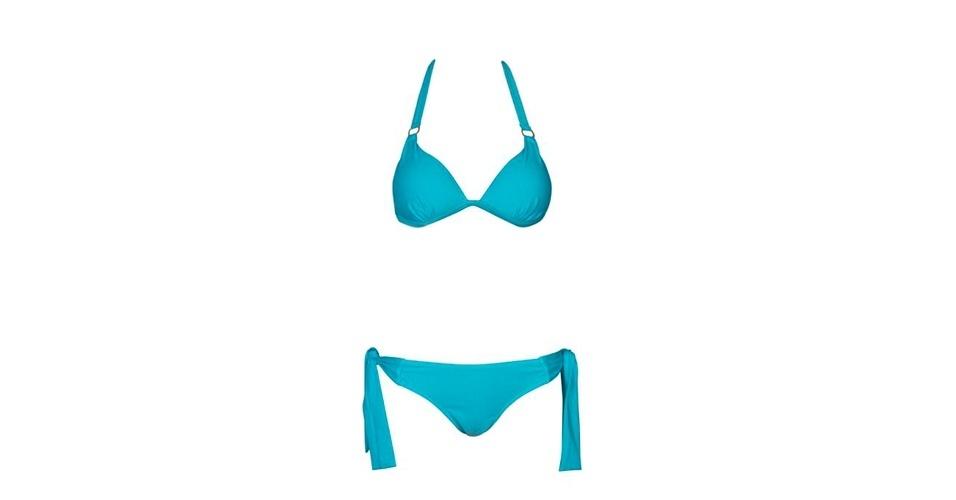 POUCO QUADRIL: Mulheres com quadril estreito podem apostar em modelos com excesso de tecido; top e calcinha; R$ 25,90 e R$ 19,90, respectivamente, na Riachuelo