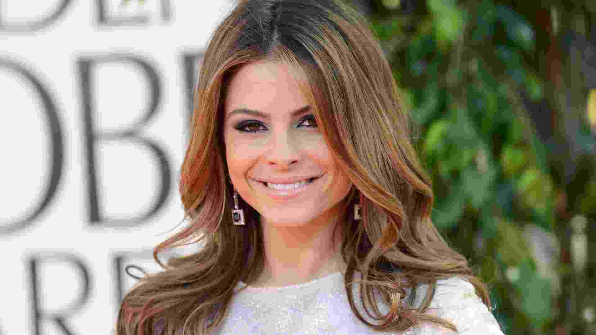 13.jan.2013 - Maria Menounos no tapete vermelho do Globo de Ouro 2012 - Getty Images