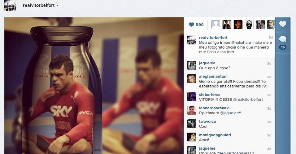 10.jan.2013 - Vitor Belfort encerra sua preparação para o UFC São Paulo
