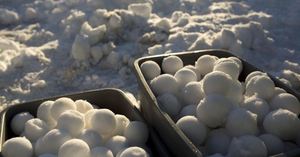 14.jan.2013 -  Seattle (EUA) é palco da maior guerra de  neve mundo, segundo o Guinness Book