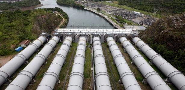Hidrelétrica de Furnas, em São José da Barra (MG)