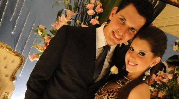 Andressa e o namorado Jean Nunes