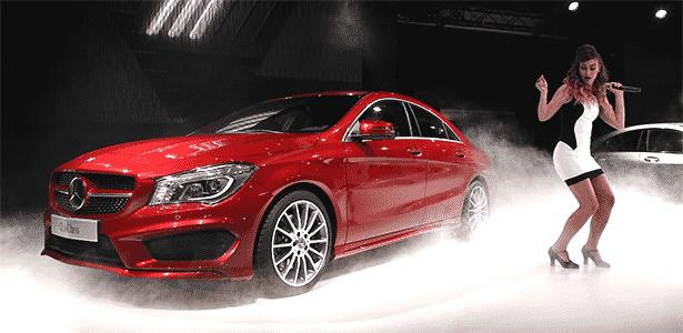 Mercedes-Benz CLA é apresentado à imprensa em Detroit (EUA), mas não estará no salão - AFP