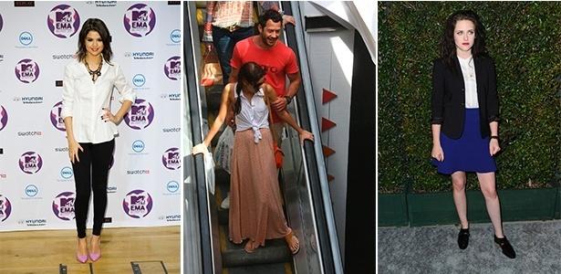 Selena Gomez, Sophie Charlotte e Kristen Stewart mostram diferentes maneira de usar camisa branca - Getty Images e Agnews