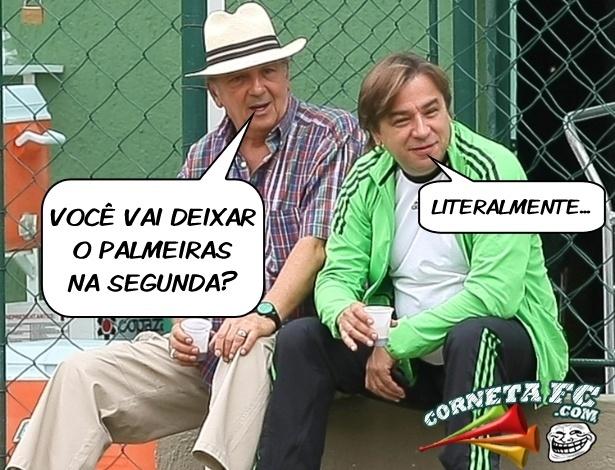 Corneta FC: Em tom de despedida, Tirone deixa Palmeiras na segunda... literalmente!