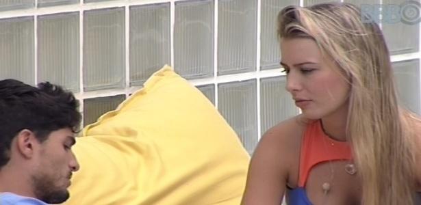 15.jan.2013 - Fernanda e André conversam sobre situação deles na casa