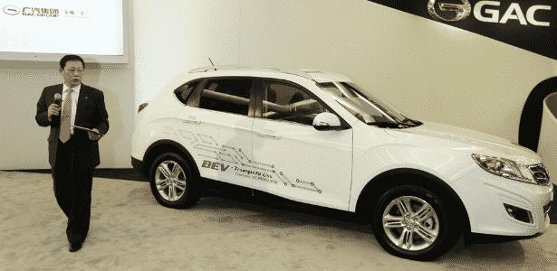 Tem de ter SUV nos EUA? A GAC mostra o elétrico Trumpchi GS5, misto de Tiguan, X1 e XC60 - Carlos Osorio/AP