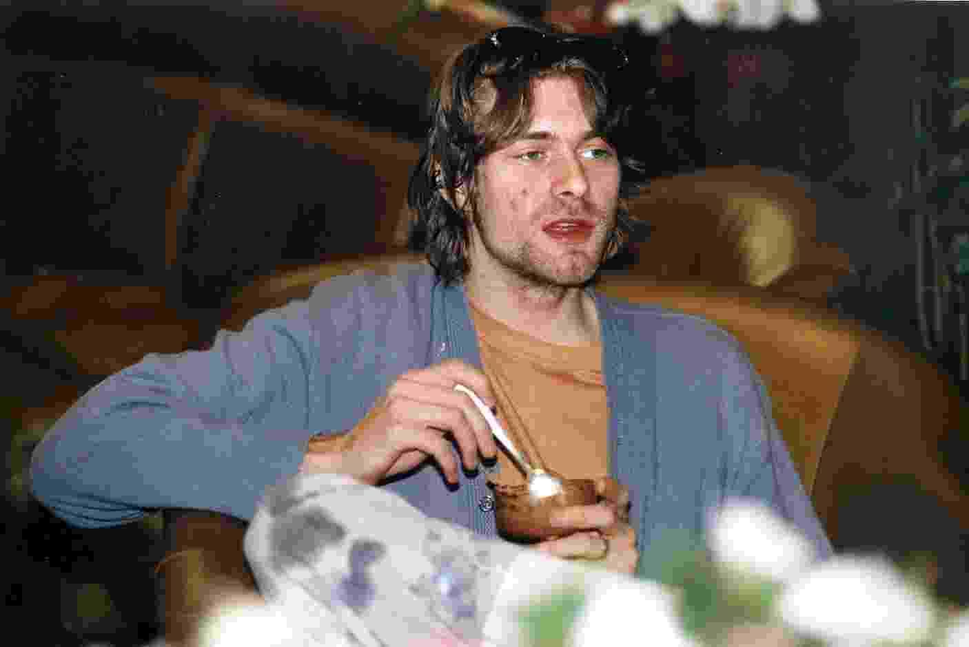 Jan. 1993 - Kurt Cobain, do Nirvana, em entrevista no Maksoud Plaza, em São Paulo, durante o Hollywood Rock. - Ana Ottoni/Folhapress