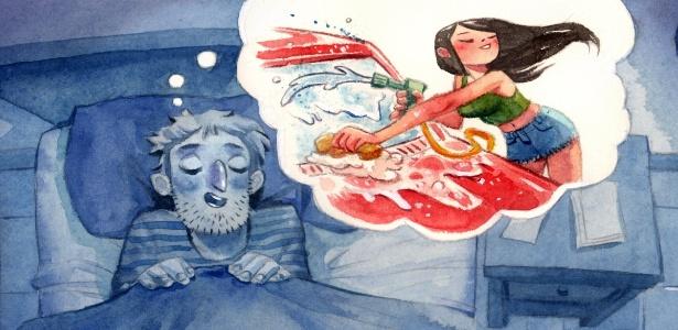 Muitos sonhos podem ter simbologia erótica, mas não um significado sexual, segundo especialista - Julia Bax/UOL