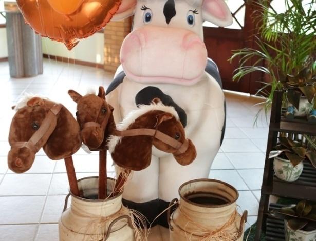 16.jan.2013 - Detalhe da decoração da festa de José Marcus, filho de Wanessa, que teve como tema a fazenda