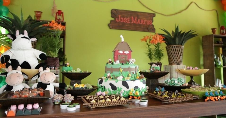 16.jan.2013 - Detalhe das guloseimas da festa de José Marcus, filho de Wanessa, que teve como tema a fazenda