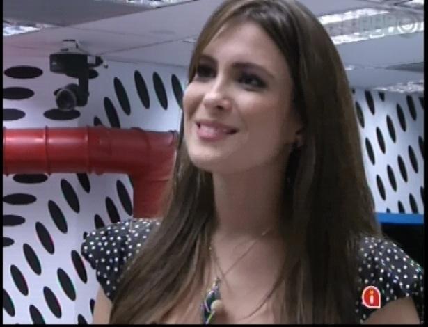 """16.jan.2013 - Kamilla dentro da casa do """"BBB13"""""""