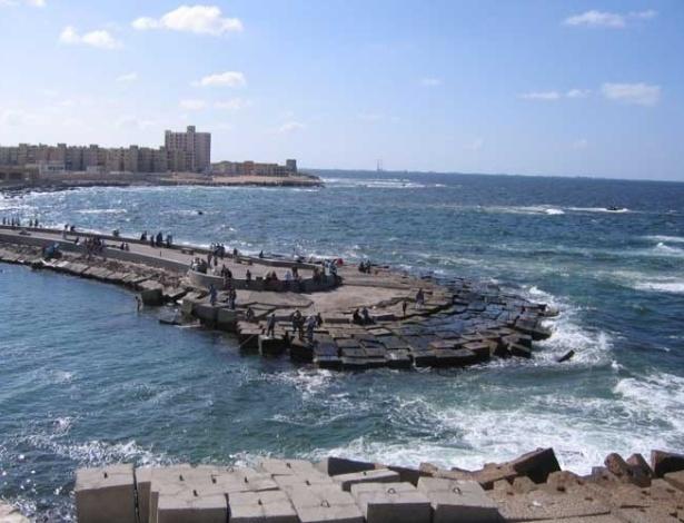 Vista da orla de Alexandria, no Egito