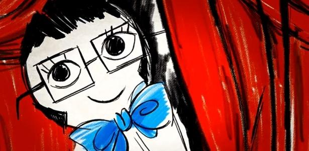 """Ilustração de Alber Elbaz em vídeo """"teaser"""" para comemorar sua linha de makes Lancôme - Reprodução/YouTube Lancomeworldwide"""