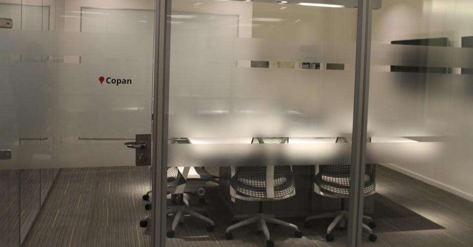 Sala de reunião do Google leva nome do Edifício Copan, prédio localizado na região central da cidade de São Paulo, desenhado pelo arquiteto Oscar Niemayer