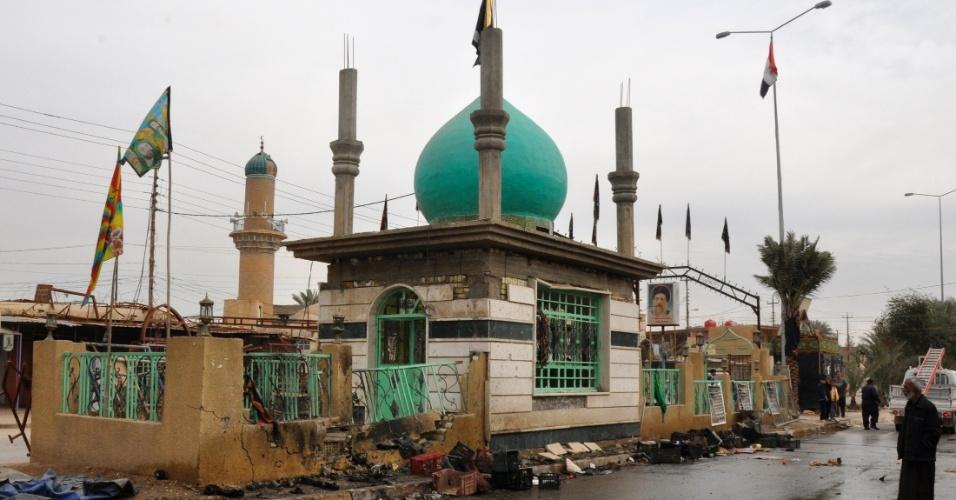 17.jan.2012- Um atentado a bomba em um mercado de Dujail, ao norte de Bagdá, no Iraque, matou pelo menos oito pessoas e feriu outras 27