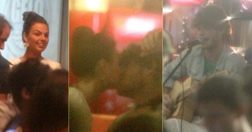 17.jan.2013 - Isis Valverde vai a barzinho ver o namorado tocar na Barra da Tijuca, Rio de Janeiro