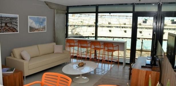 18.jan.2012 - Os primeiros camarotes da Arena Fonte Nova, em Salvador, foram apresentados nesta sexta-feira (18)