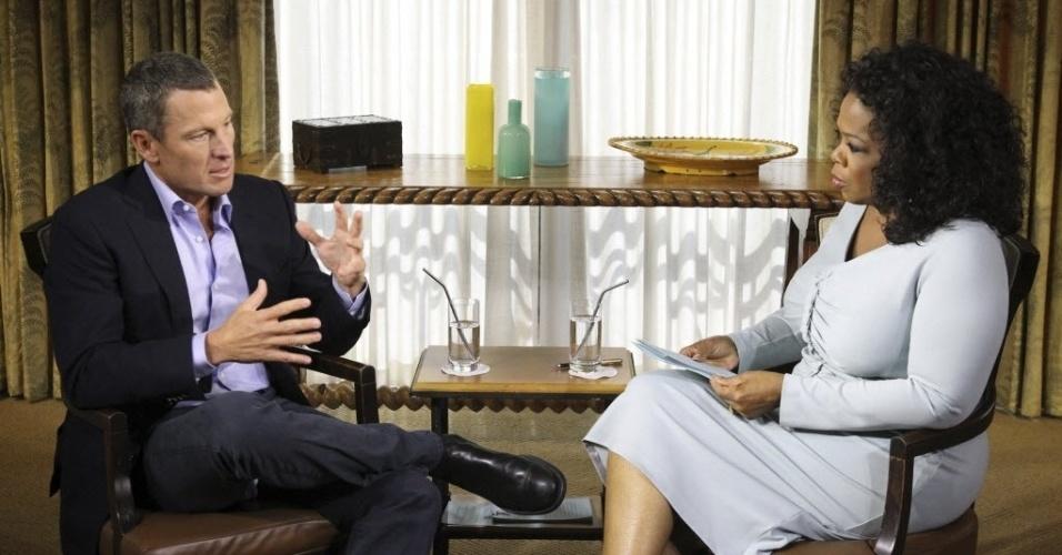 18.jan.2013 - Em entrevista ao programa Oprah's Next Chapter, exibido pela primeira vez nesta quinta-feira (17), pela rede OWN e pelo site oficial da apresentadora, o ex-ciclista Lance Armstrong admitiu que se dopou em todos os sete anos em que ganhou a Volta da França