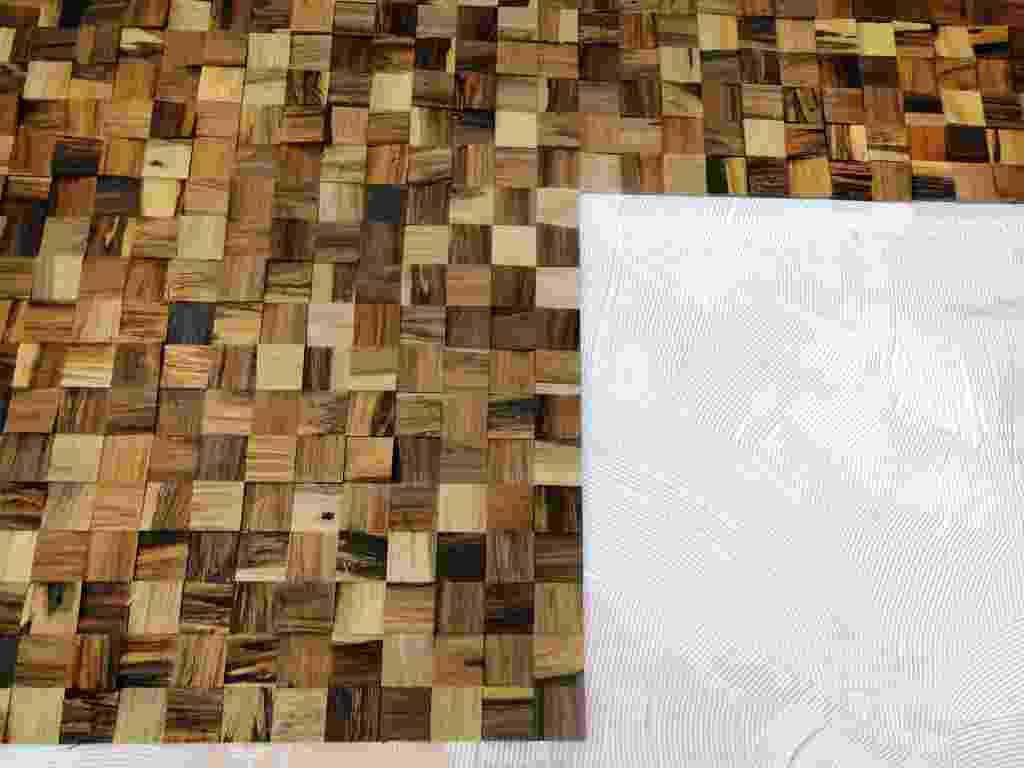 passo a passo - instalação de painel de madeira (imagem cedida ao UOL Mulher - Casa e Decoração, usar somente no respectivo material) - Divulgação
