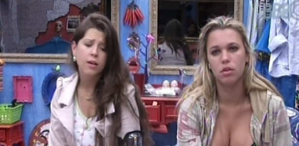 19.jan.2013 - Andressa e Marien conversam sobre as possibilidades do
