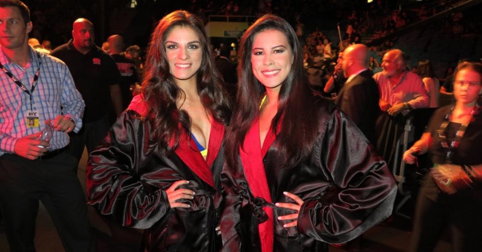 19.jan.2013 - Ring girls brasileiras estão preparadas para o primeiro UFC