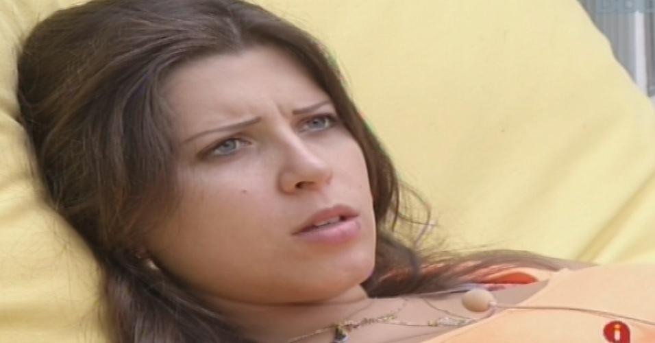 """20.jan.2013 - Andressa diz que entrou no """"BBB13"""" para sair da cidade de Cianorte, no Paraná, e mudar de vida"""