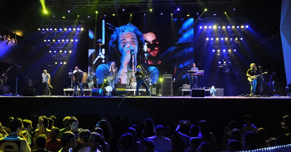 A banda Soja se apresenta no Festival de Verão de Salvador, em janeiro de 2013