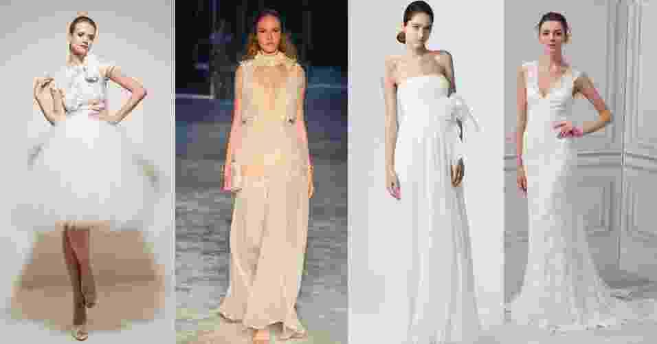 Montagem para chamar a galeria com opções de segundo vestido de noiva - Montagem/UOL