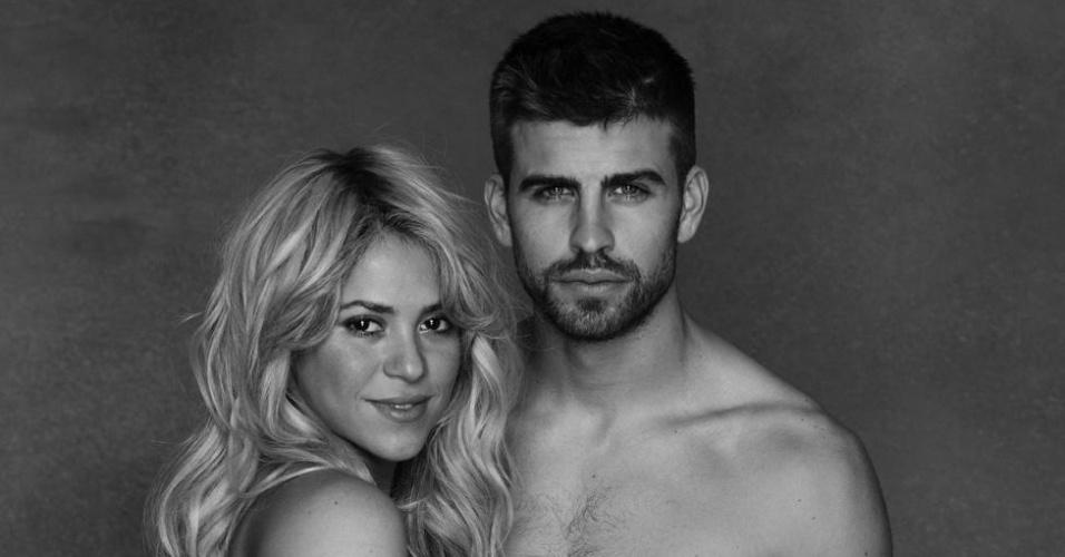 Piqué e Shakira em ensaio para a Unicef